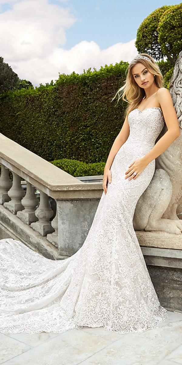 moonlight wedding dresses trumpet full lace sweetheart 2018 with train