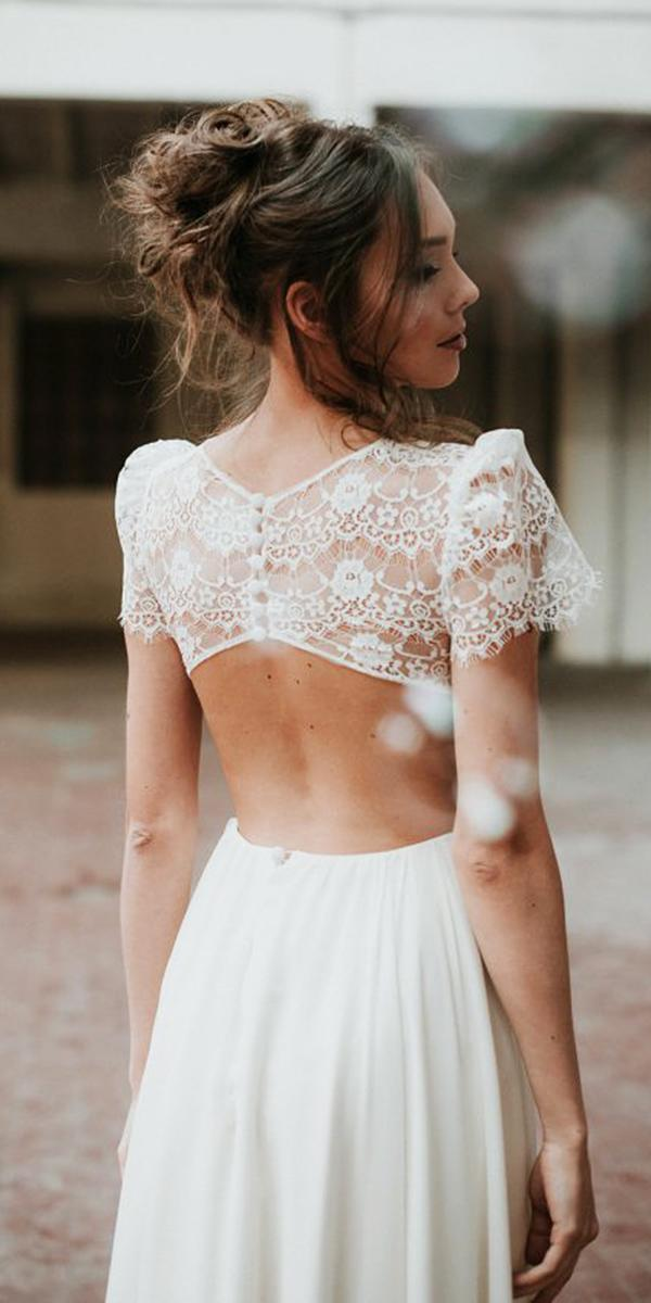 nadia manzato wedding dresses open back with buttons cap lace sleeves 2018