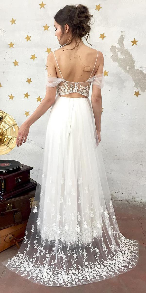 nadia manzato wedding dresses with straps off the shoulder lace floral embellishment