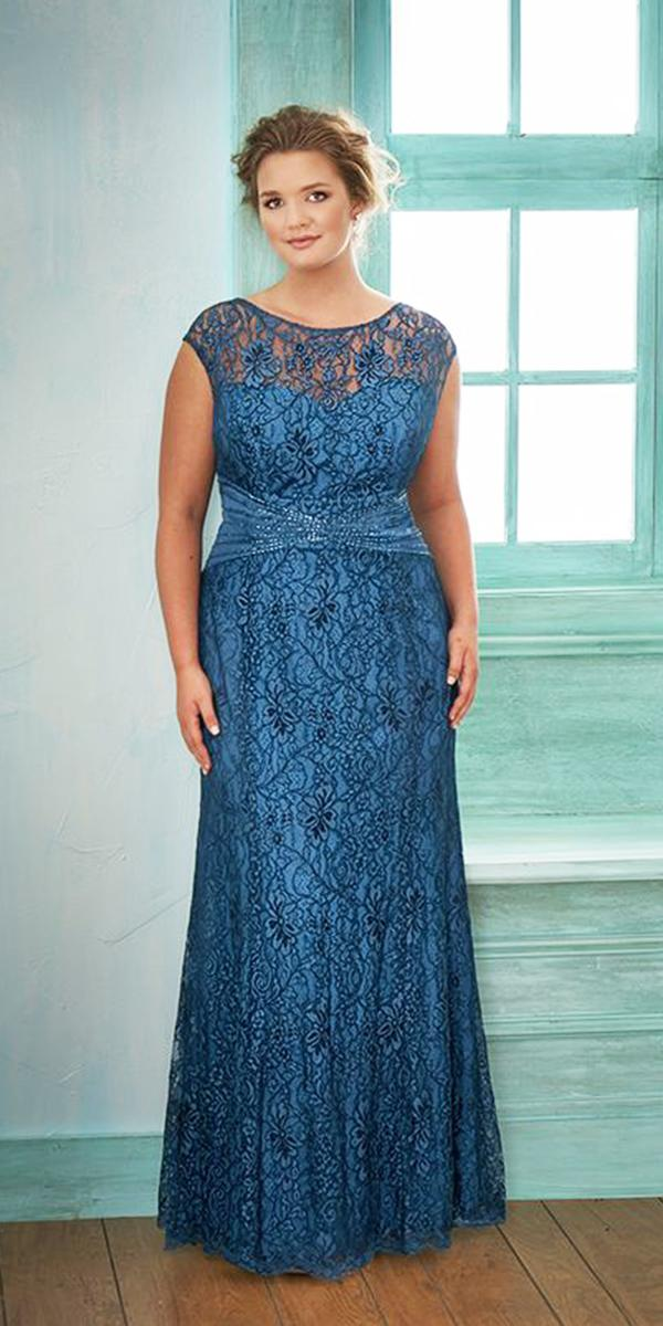 plus size mother of the bride dresses long lace navy jasmin bridal