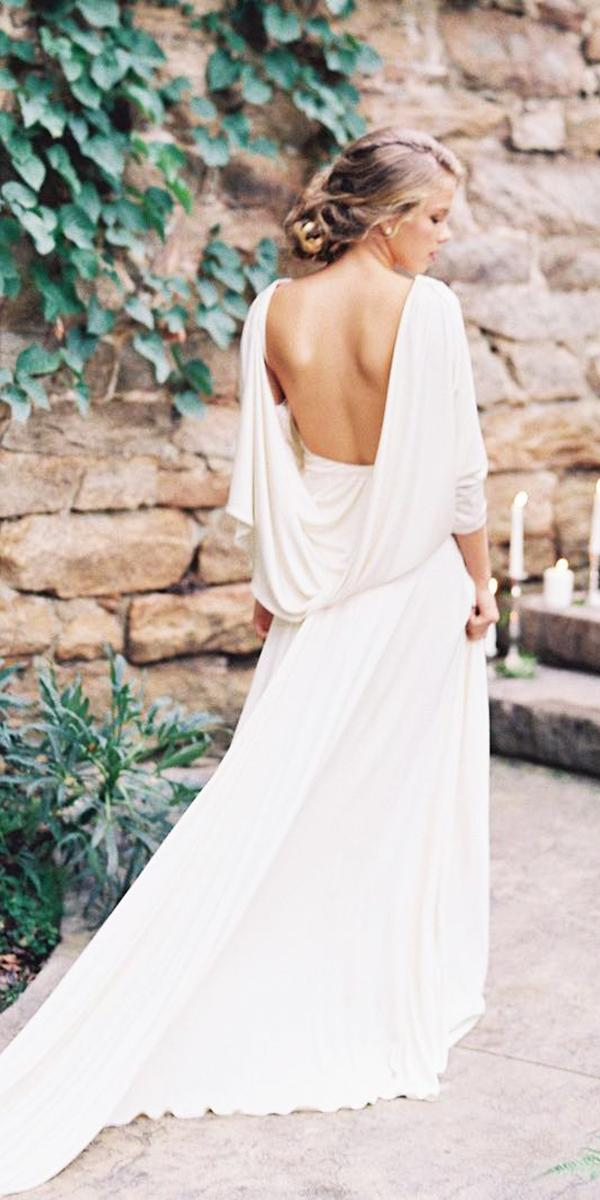 simple low back romantic bridal gowns elegant carol hannah bridal