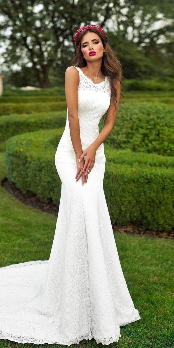 mermaid lace simple sleeveless romantic bridal gowns ariamo bridal