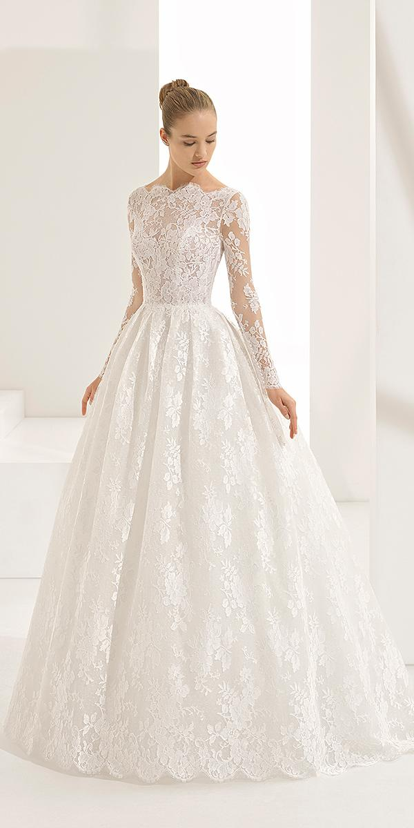 rosa clara wedding dresses 2018 a line with long sleeves lace embellishment 2018