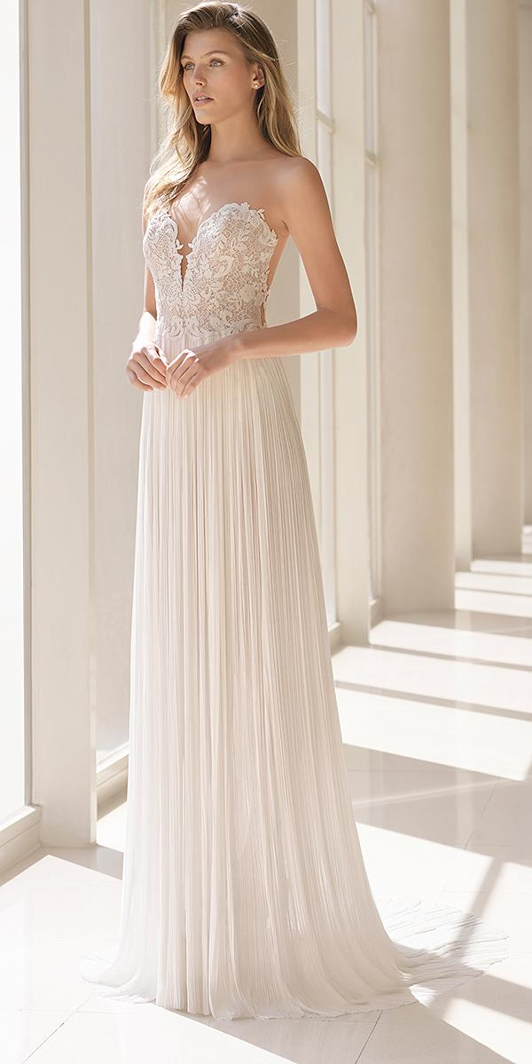 rosa clara wedding dresses 2018 sweetheart lace top v neckline