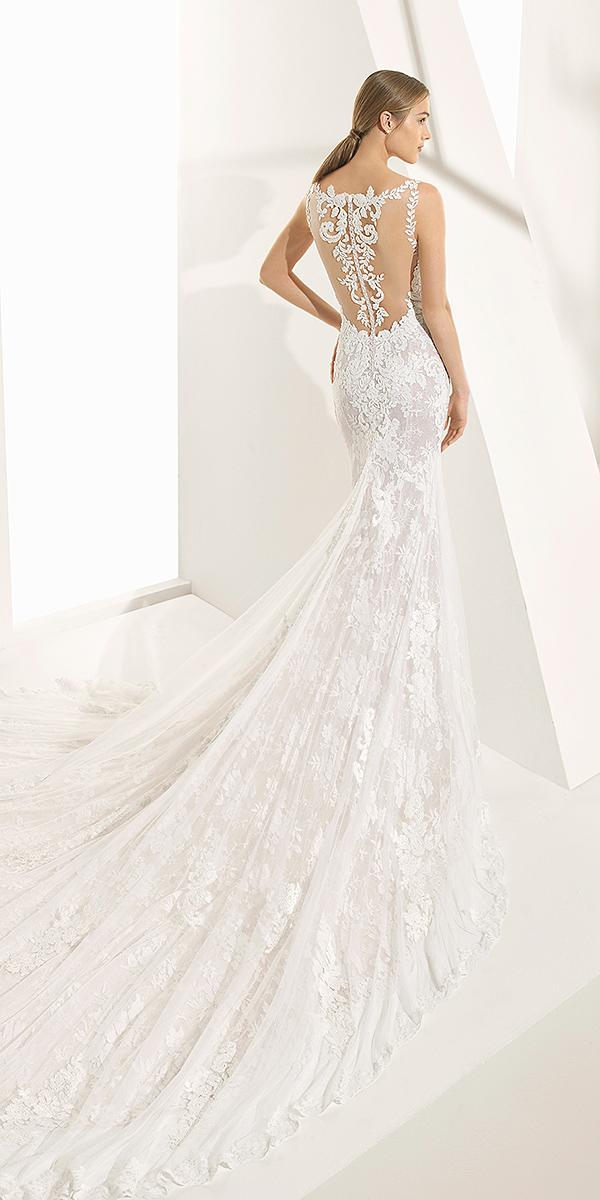 rosa clara wedding dresses 2018 trumpet tattoo effect back with train lace
