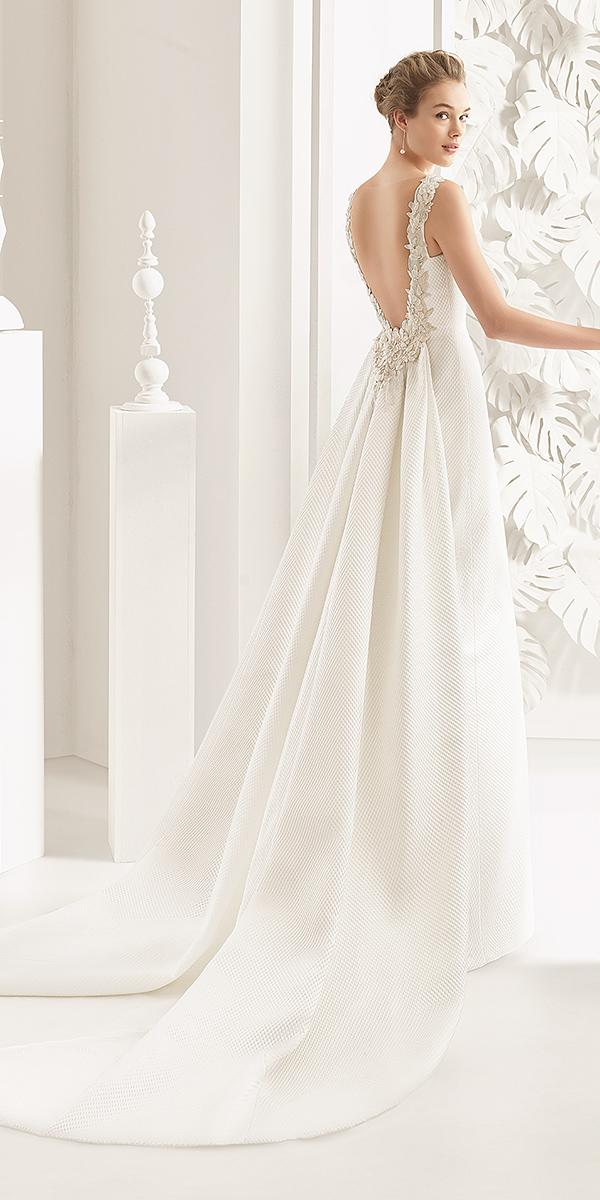 rosa clara wedding dresses-2018 v back floral appliques