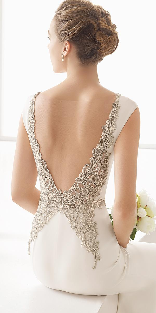 rosa clara wedding dresses 2018 with unique beaded v back