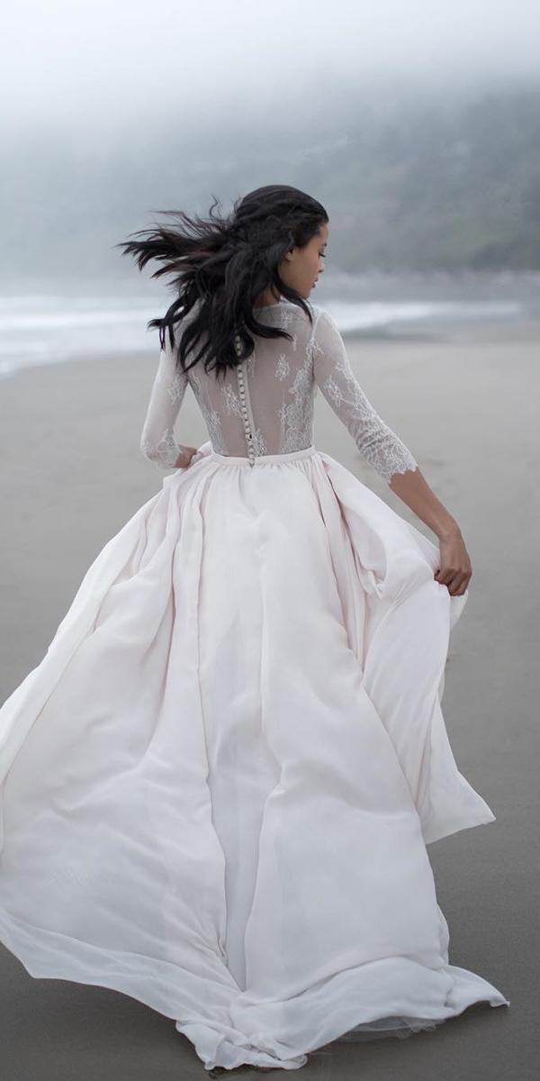 simple wedding dresses with sleeves lace embellishment cathy telle