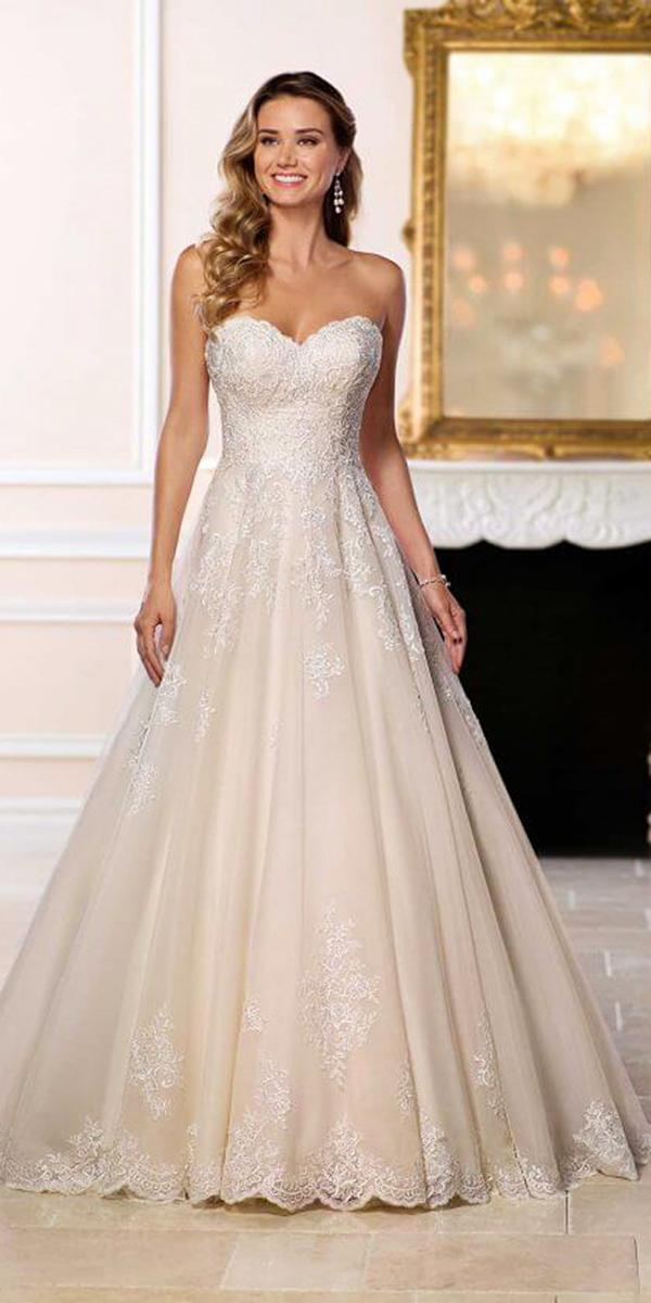 stella york wedding dresses a line sweetheart lace embeoidered