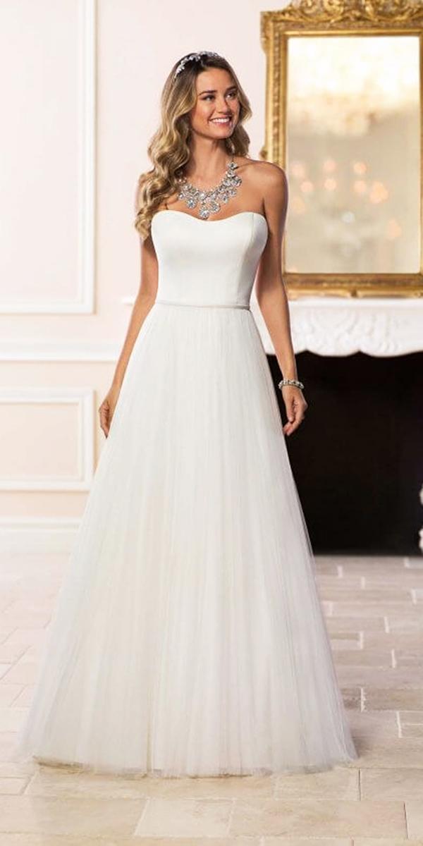 stella york wedding dresses a line sweetheart simple tulle skirt sleeveless