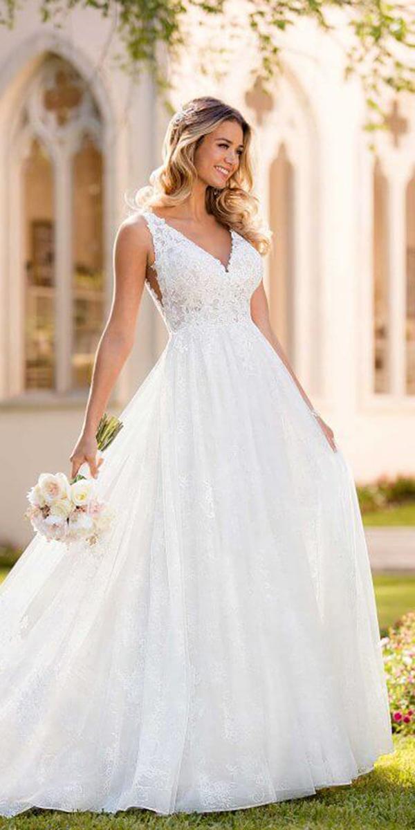 stella york wedding dresses a line v neckline full lace embellishment