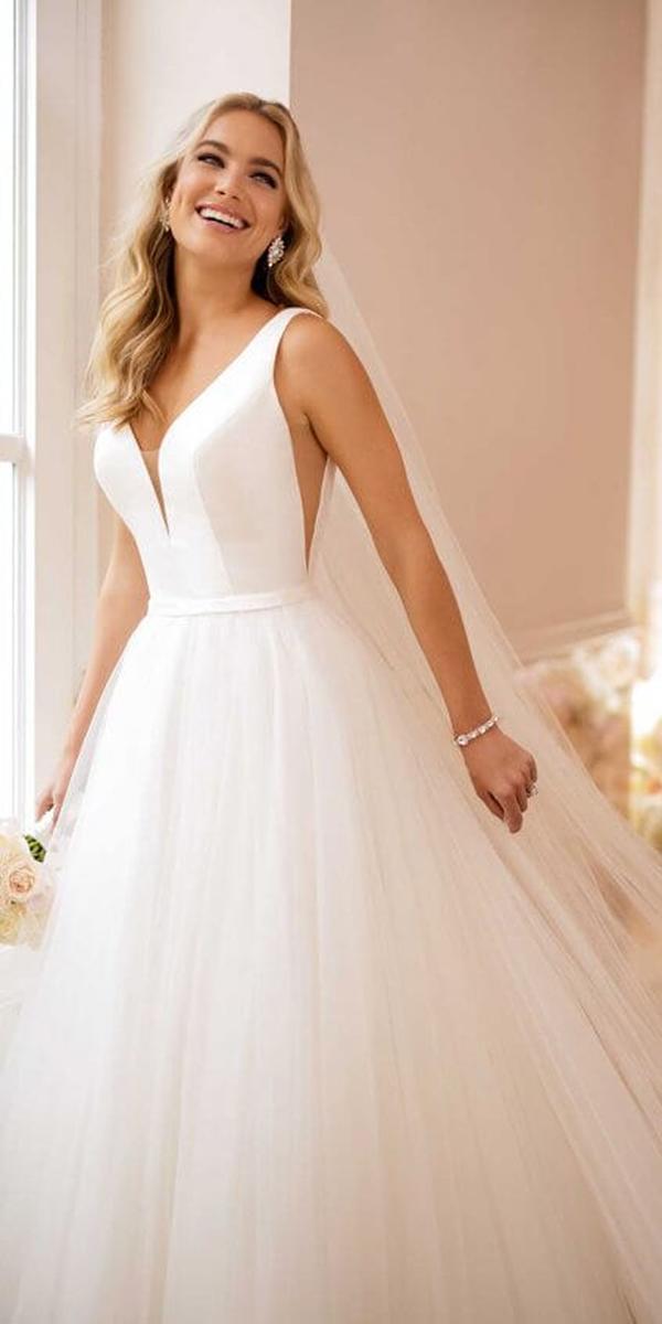 stella york wedding dresses a line v neckline tulle skirt