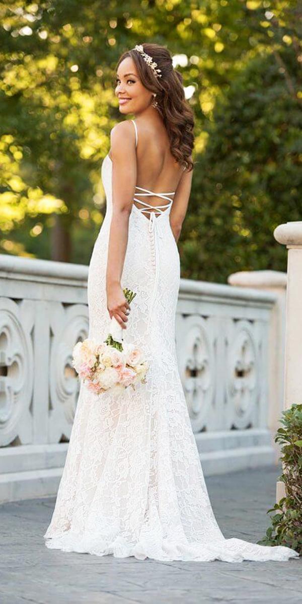 stella york wedding dresses backless full lace 2018
