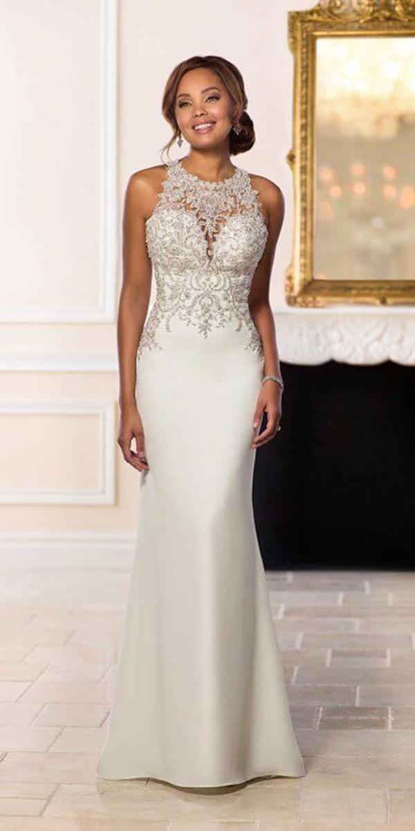 stella york wedding dresses jewel neckline vintage satin