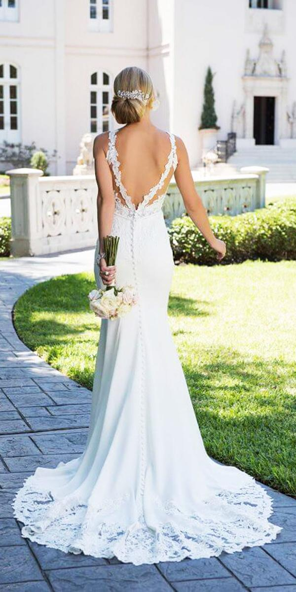 stella york wedding dresses mermaid backless with buttons
