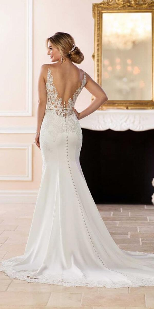 stella york wedding dresses mermaid illusion back with buttons