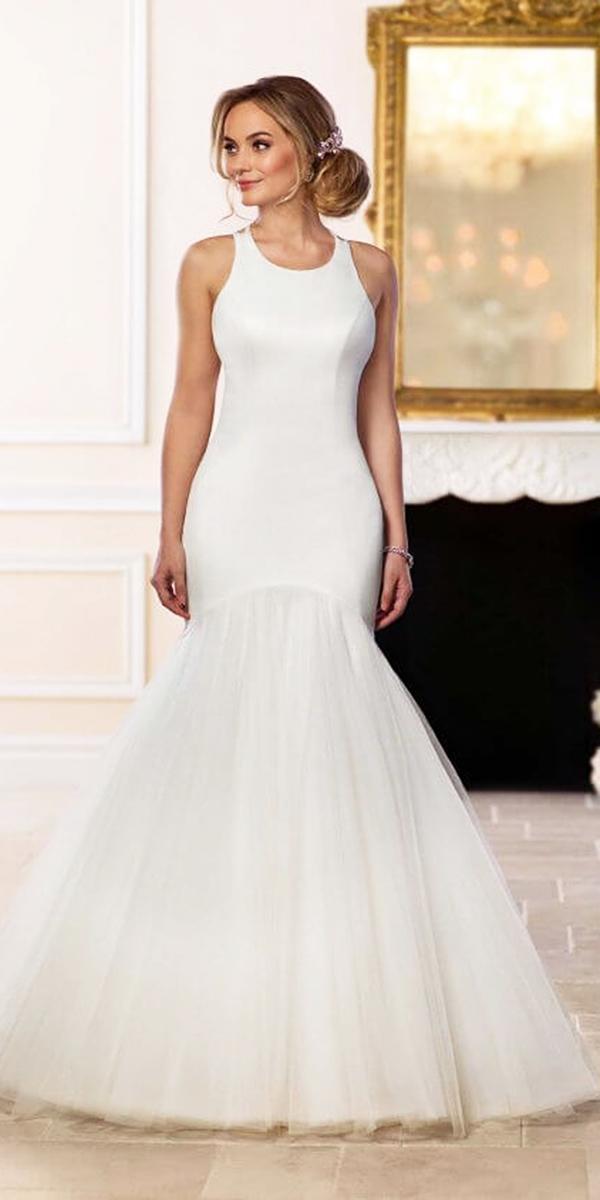 stella york wedding dresses mermaid tulle skirt simple