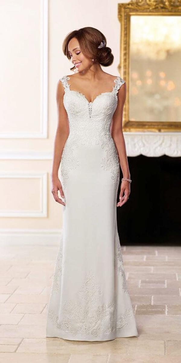 stella york wedding dresses sheath sweetheart lace embellishment