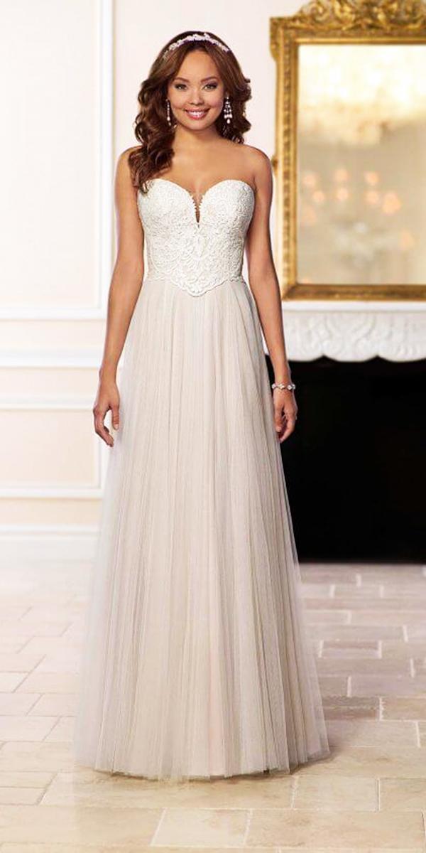 stella york wedding dresses sweetheart lace top sheath