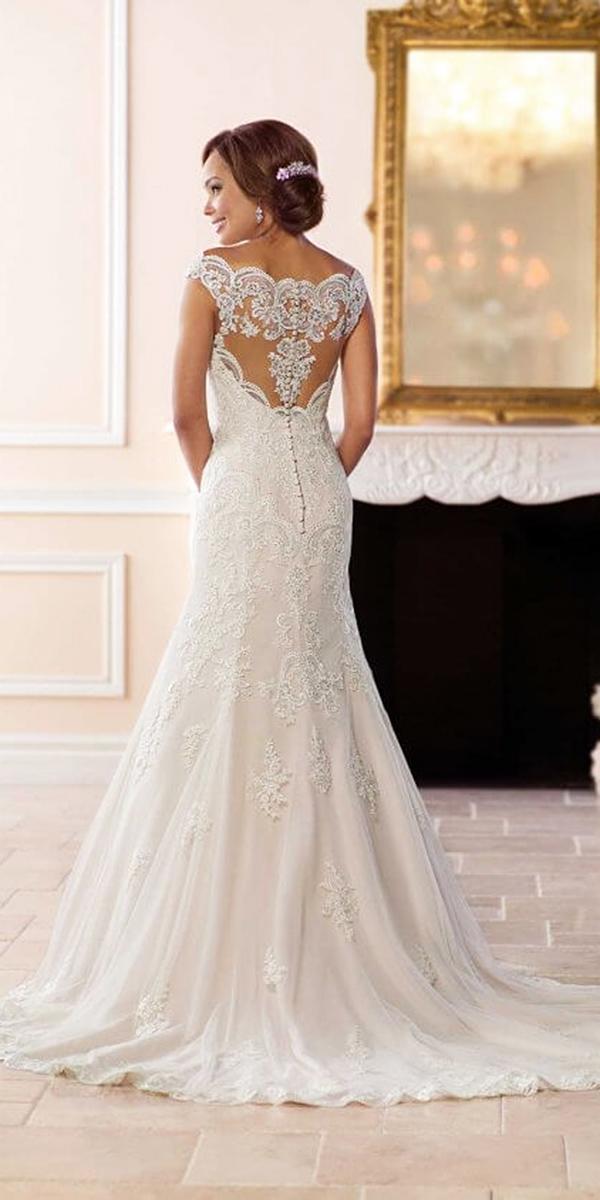 stella york wedding dresses trumpet illusion lace back