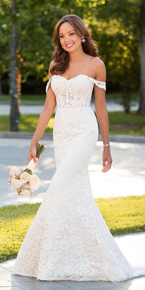 stella york wedding dresses trumpet off the shoulder full lace