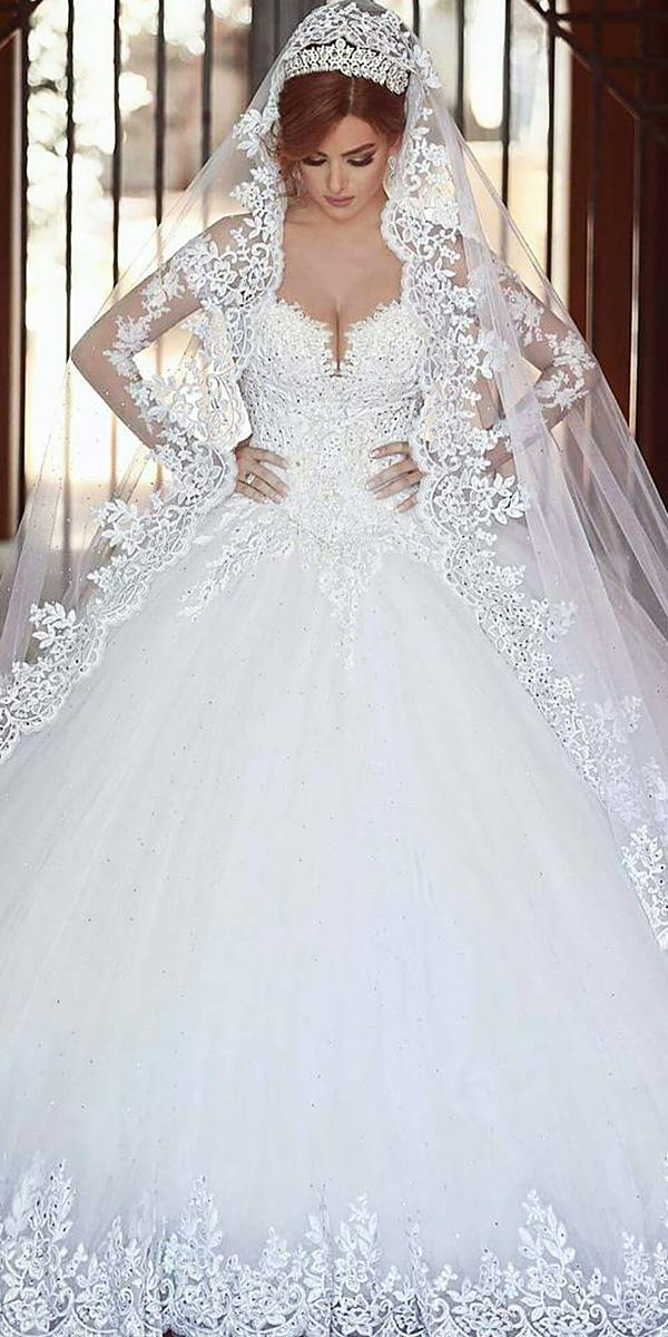 walid shehab wedding dresses ball gown sweetheart lace best