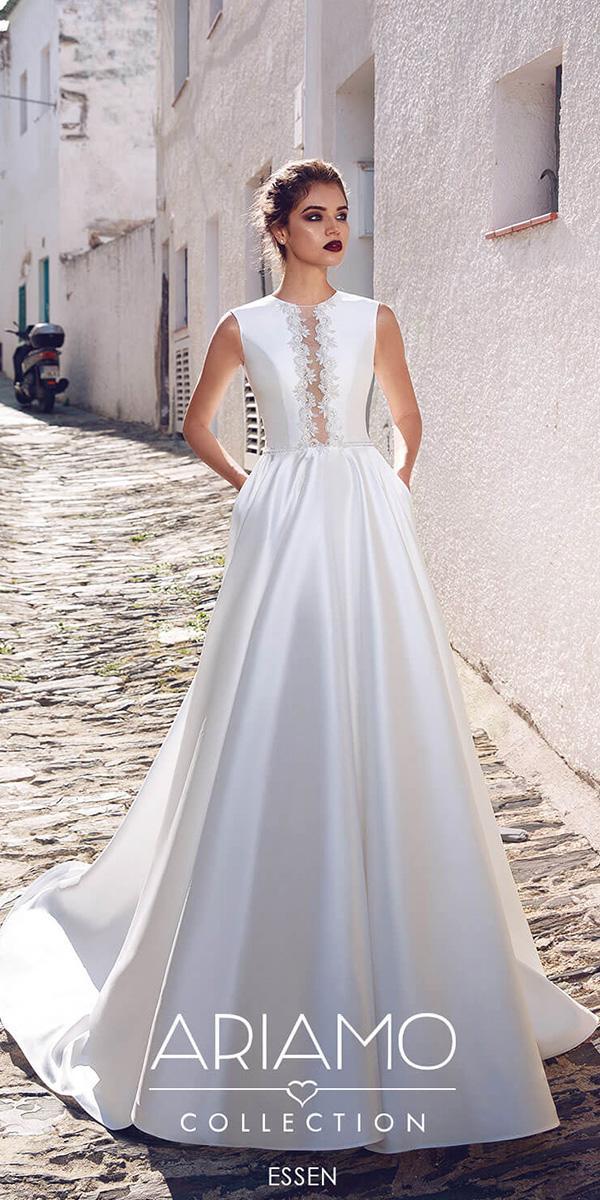 ariamo wedding dresses a line simple floral embellishment simple