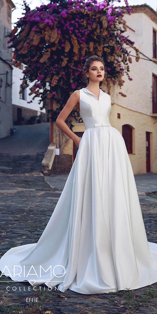 ariamo wedding dresses a line simple sleeveless 2018