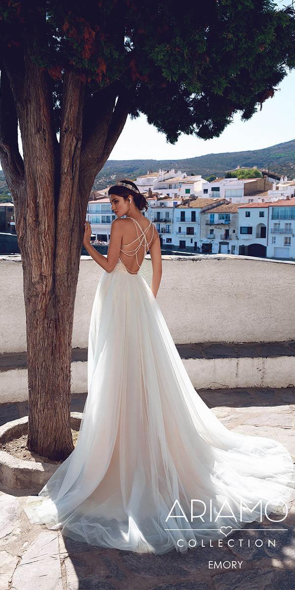 ariamo wedding dresses backless tulle skirt