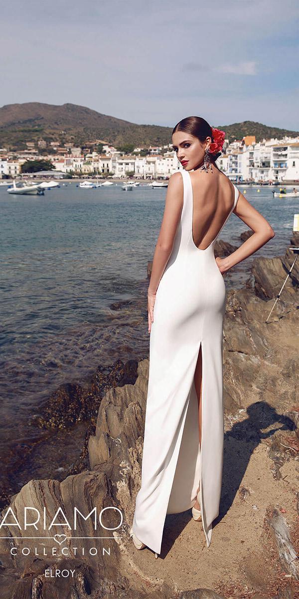 ariamo wedding dresses low back sheath simple 2018 sexy