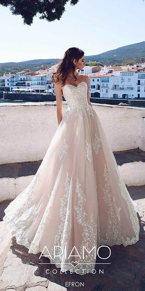 ariamo wedding dresses princess sweetheart floral embroidered