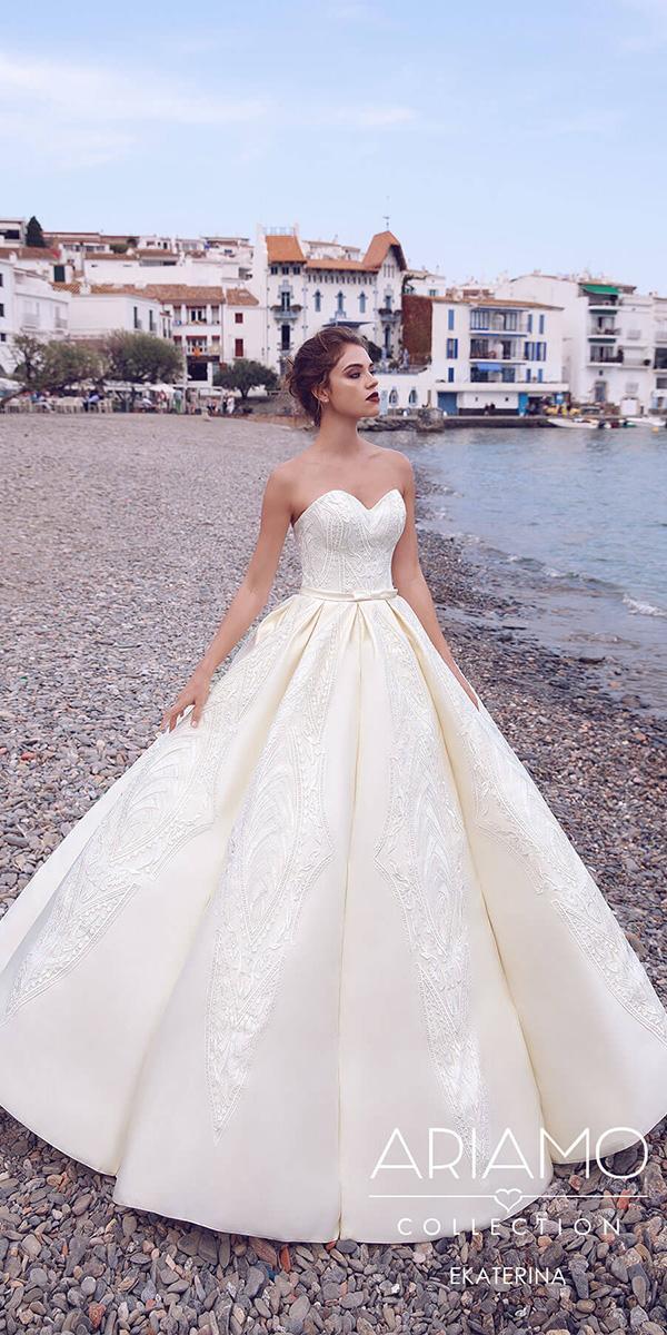 ariamo wedding dresses princess sweetheart full lace embellishment