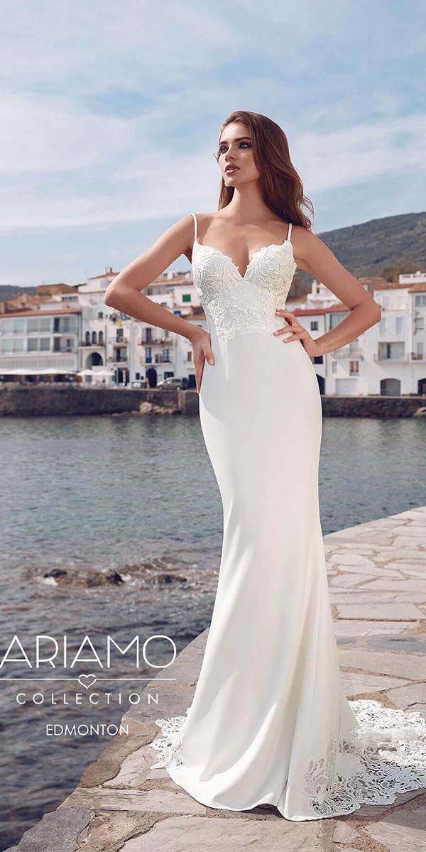 ariamo wedding dresses sheath with straps sweetheart beach