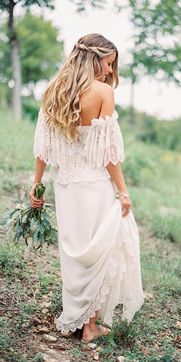 barnyard wedding dresses off the shoulder lace embroidered rustic magnolia rouge