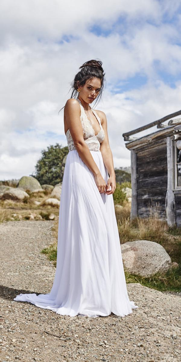 barnyard wedding dresses v neck with satin skirt country grace loves lace