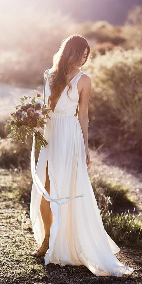 barnyard wedding dresses v nekline simple country elizabeth dye