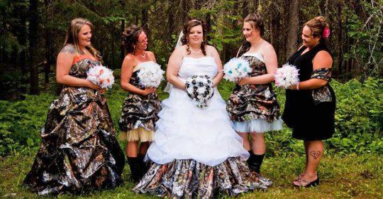 camo bridesmaid dresses featured