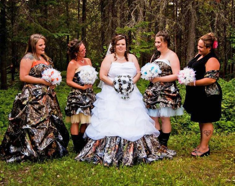 camo bridesmaid dresses featured