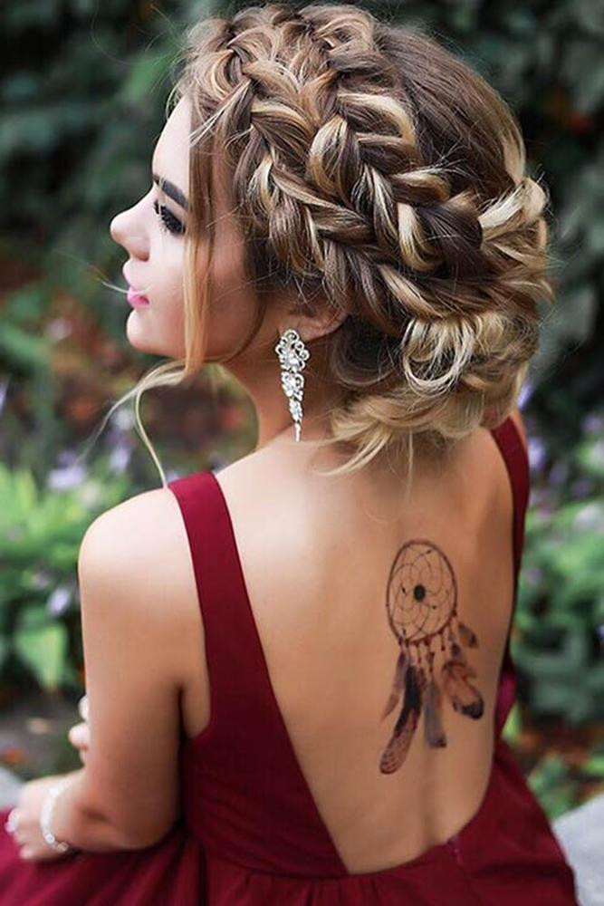 camo bridesmaid dresses hair by zolotaya