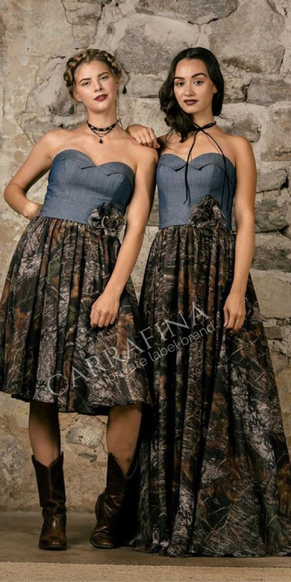 camo bridesmaid dresses short long sweetheart carrifana