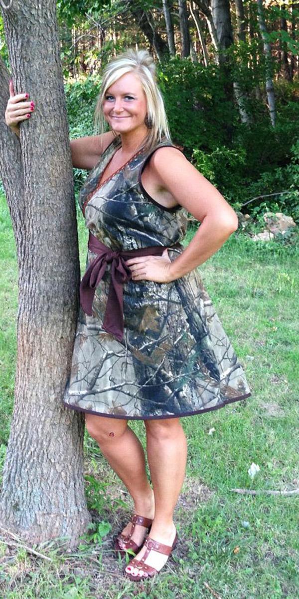 camo bridesmaid dresses short real three