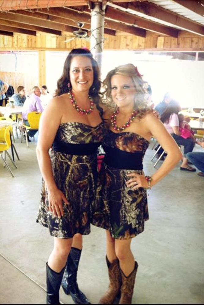camo bridesmaid dresses short with boots camo diva