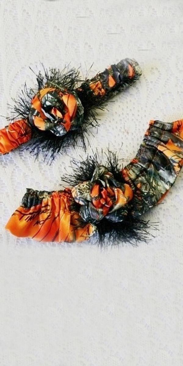 camo wedding dresses garter orange camo treasures