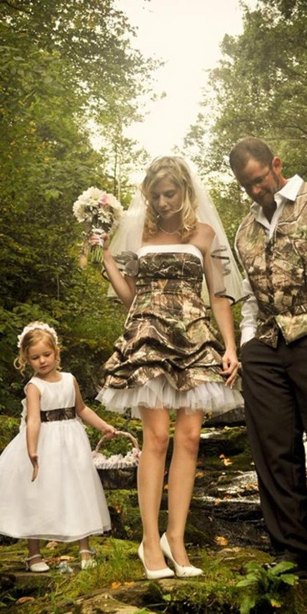 camo wedding dresses short strapless samuels photography