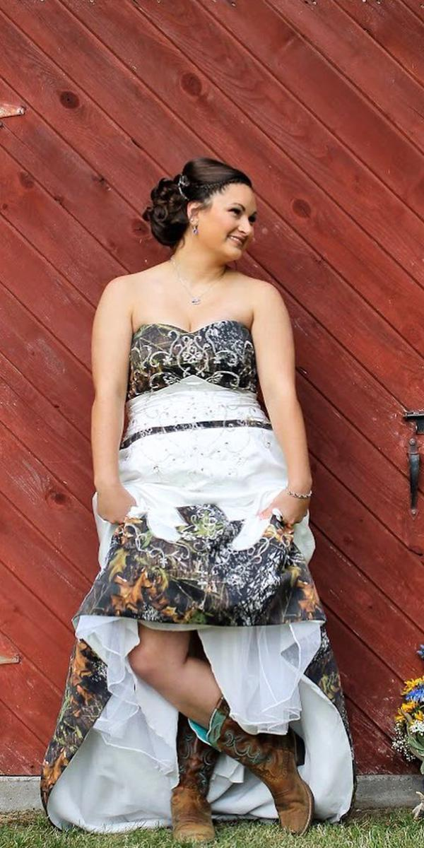 camo wedding dresses sweetheart with boots the photography of oz