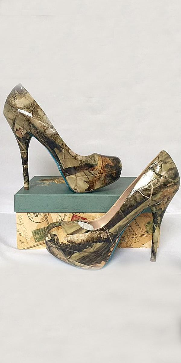 Camo Wedding Shoes With Heels Real Tree