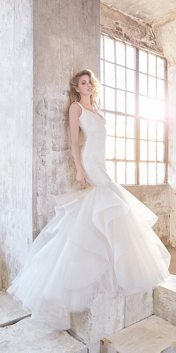 hayley paige wedding dresses fit and flare ruffled skirt 2018