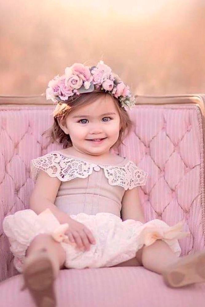 lace flower girl dresses blush lace dollcakevintage