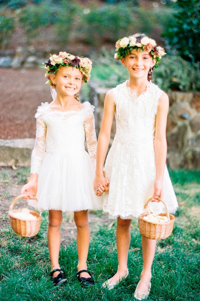 lace flower girl dresses straight white with sleeves jen rodriguez