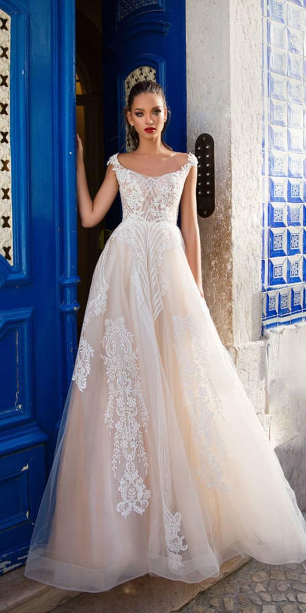 milla nova wedding dresses a line with cap sleeves ivory 2018